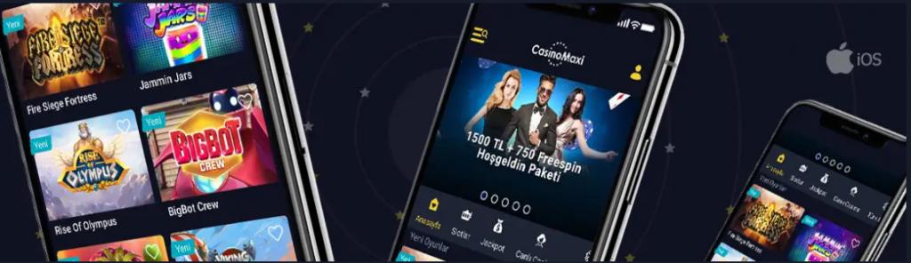 CasinoMaxi Mobil uygulama Artık İOS'ta